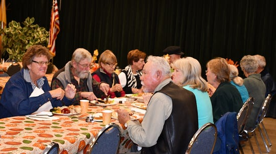 The annual turkey dinner sponsored by Glenwood Woman's Club is one of the year's most popular events.