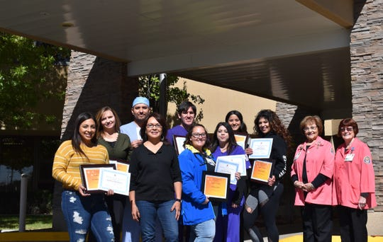 The Gila Regional Medical Center Auxiliary and GRMC Foundation awarded nine recipients with scholarships at October's GRMC Board of Trustees meeting.