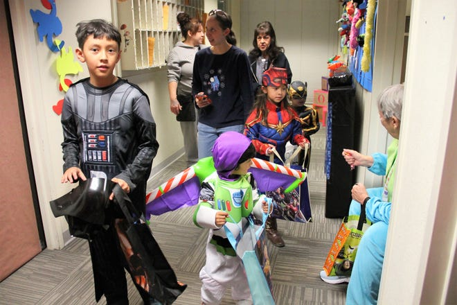 The City of Alamogordo celebrated Halloween in 2029 with its City Hall Trick or Treat featuring a Toy Story theme. Also Alamogordo Police Department held its second annual Haunted House with some scares, games for all ages and candy galore.
