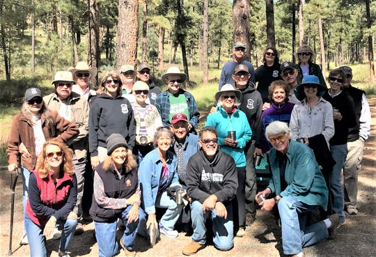 Volunteers came together for another season of work on the Smokey Bear Ranger District of the Lincoln National Forest.