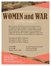 "The flyer for ""Women and War"""