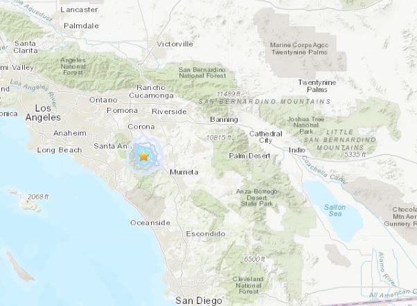 A minor earthquake struck near Lake Elsinore early Thursday, Oct. 31, 2019.