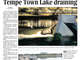 The July 21, 2010 edition of The Arizona Republic after the dam burst.
