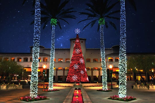 The Fairmont Scottsdale Princess goes all out with holiday lights.