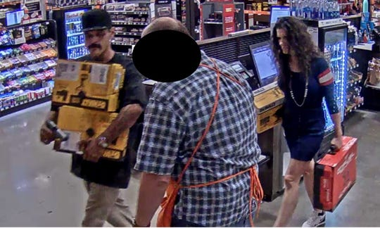 Scottsdale police are asking for help locating two people who robbed a Home Depot near Hayden Road.
