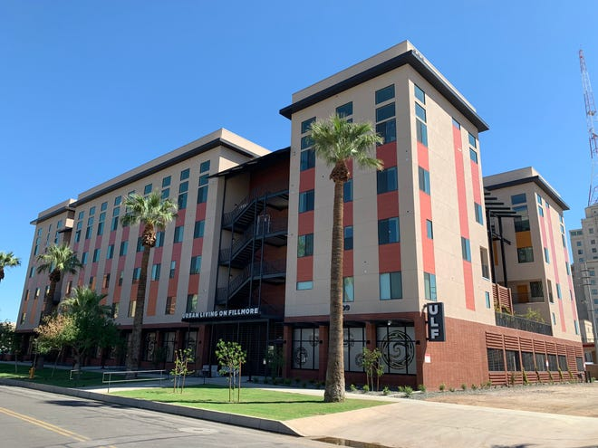 Nonprofit Native American Connections opened this affordable apartment complex in downtown Phoenix at Sixth Avenue and Fillmore Street in 2019.