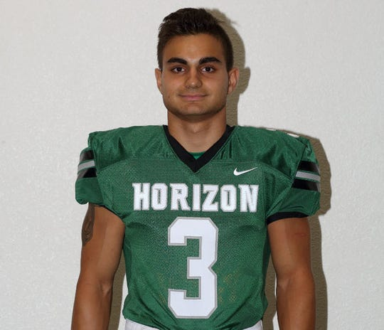 Horizon football running back Bryan Bogardus