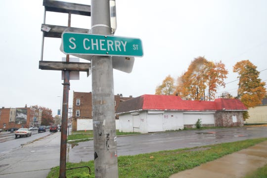 """The intersection of S Cherry Street and Main Street in the City of Poughkeepsie on October 31, 2019. The City of Poughkeepsie is initiating a program called """"Safe Passage Home"""" to target locations  around the city where students congregate after school and provide encouragement for them to disperse and get home safely."""