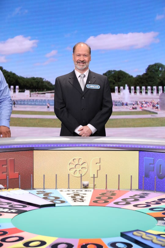 "Chreas Kratzer of Stewartstown won $10,500 on ""Wheel of Fortune."""