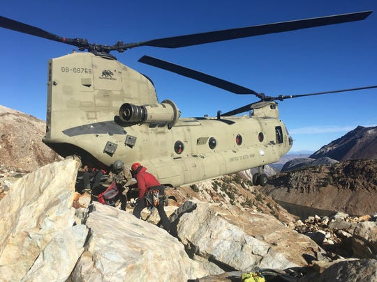 Mono County Search and Rescue deploys a team to locate and extract two women, both of whom were found dead on Red Slate Mountain on Monday, Oct. 28, 2019.