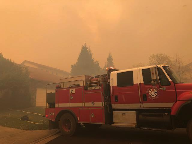 Central and north Lyon firefighters are helping battle the Kincade blaze.