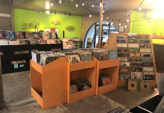 Vinyl records are in nearly every corner at Madstyle Vintage.