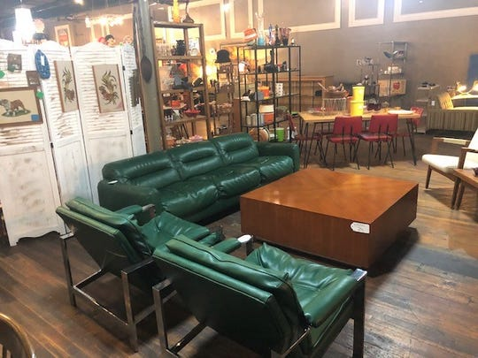 Mid-century furniture covers the floor of Madstyle Vintage.