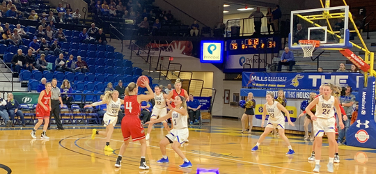 SDSU's women defeated St. Cloud State in an exhibition game Wednesday night at Frost Arena
