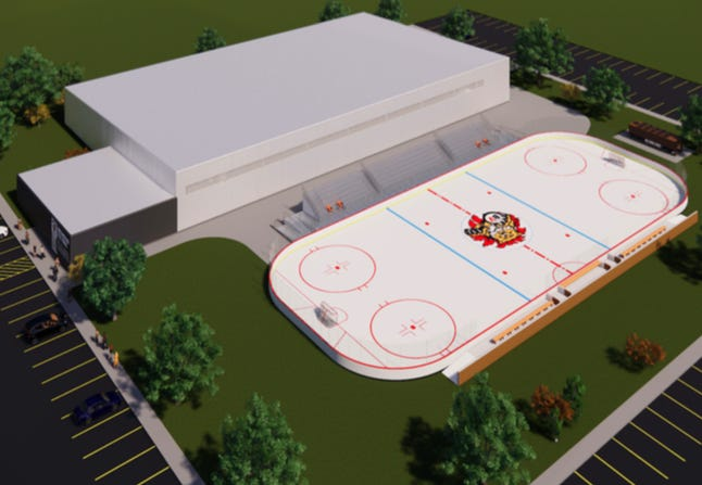 The plans for the new Brandon Valley hockey facility in Aspen Park includes the outdoor facility that is currently located in McHardy Park.