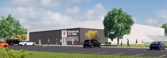 Renderings of the new hockey facility in Aspen Park.