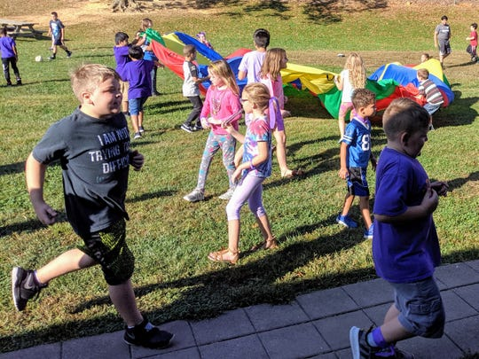 Members of the Purple House earned extra recess and popsicles for winning the school's first points competition.