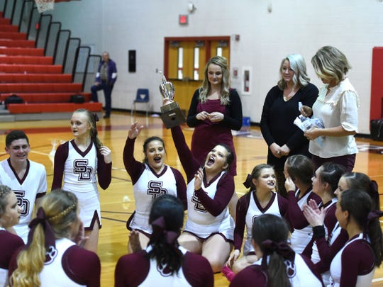 Stuarts Draft celebrates its Region 2B championship Wednesday night.