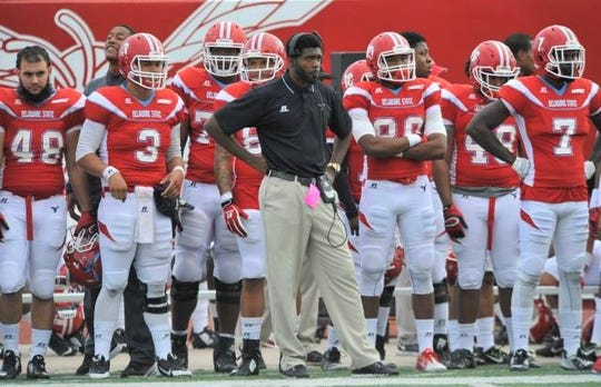 Jelani Berassa was the wide receivers coach at Delaware State from 2015-17. He's held the same title at FAMU since 2018.