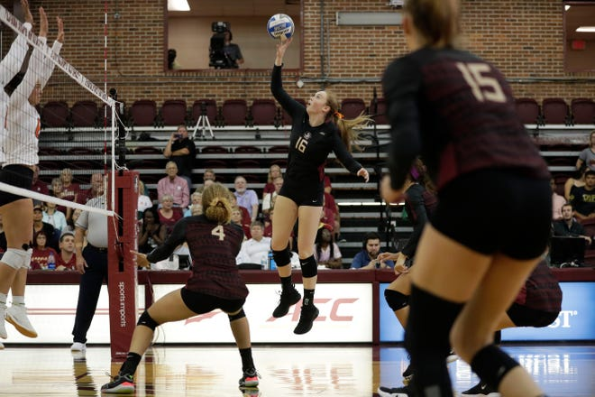 Sophomore middle blocker Emma Clothier played a pivotal role for the Seminoles as they secured thier first win of the season vs. the rival Canes.