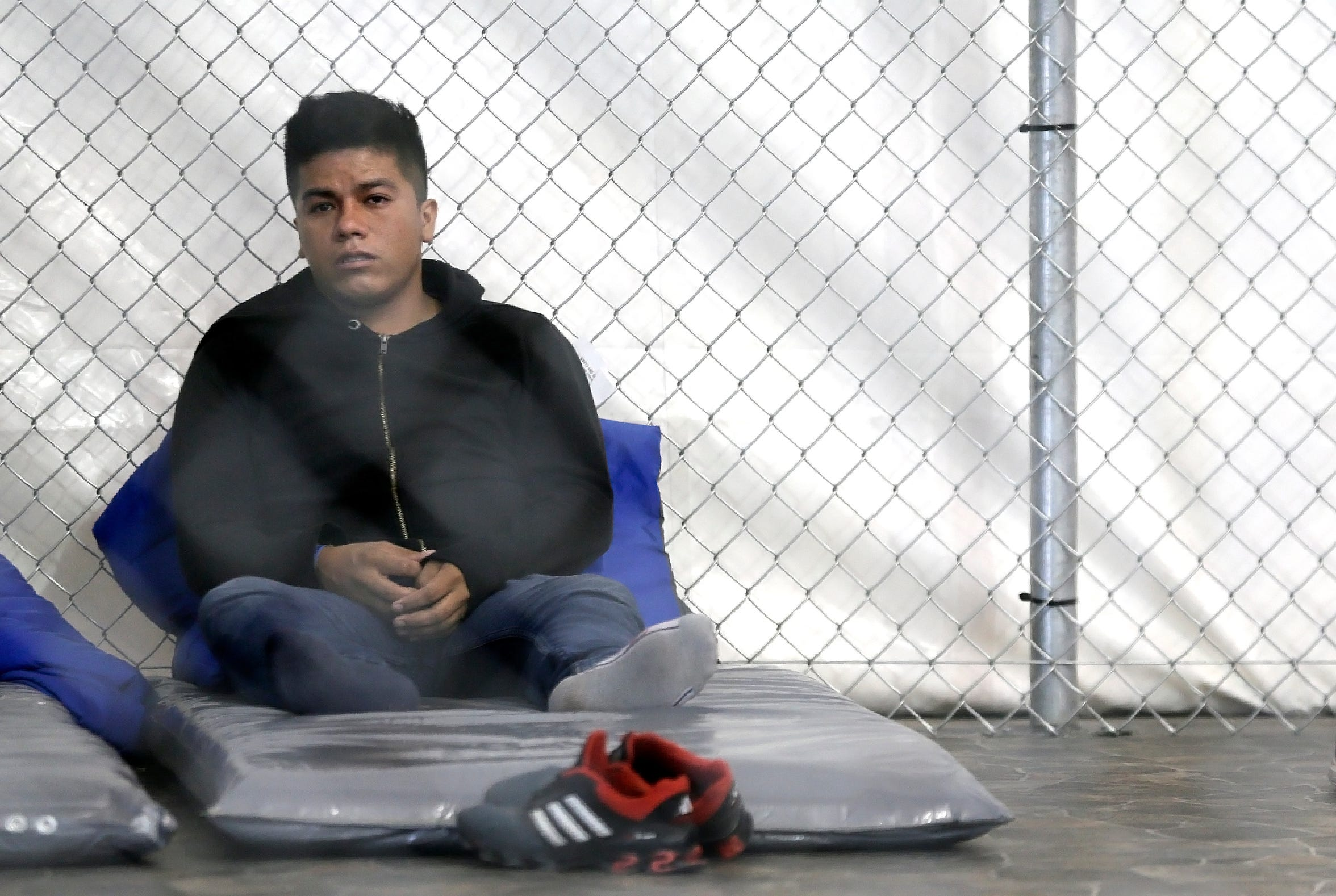 Guatemalan asylum seeker Rodormiro Ramos Herrera sits in a detention pod at the Tornillo Processing Center on August, 15, 2019. Herrera was arrested by Border Patrol on his third attempt to enter the United States. Like many asylum seekers, Ramos Herrera grew tired of the long wait in Juarez under Migrant Protection Protocols and attempted entry illegally.