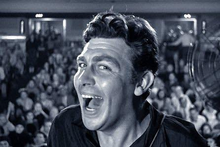 """Andy Griffith is stunning as a country bumpkin with surprising and dangerous skills as a hustler who can con the masses in """"A Face in the Crowd."""""""