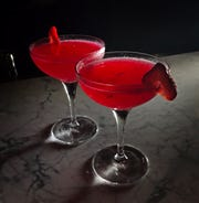 The Part Time Lover cocktail at Granita features gin, strawberry, hibiscus and lemon Oct. 30, 2019. Try this drink during happy hour where you can get 2 for $13.
