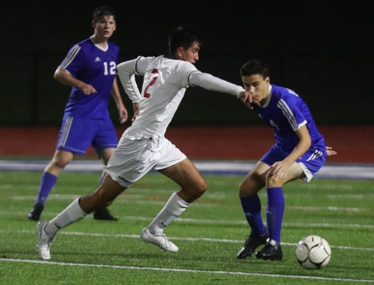 Somers soccer beat Pearl River 4-2 in a Class A semifinal at Pearl River Oct. 30, 2019.