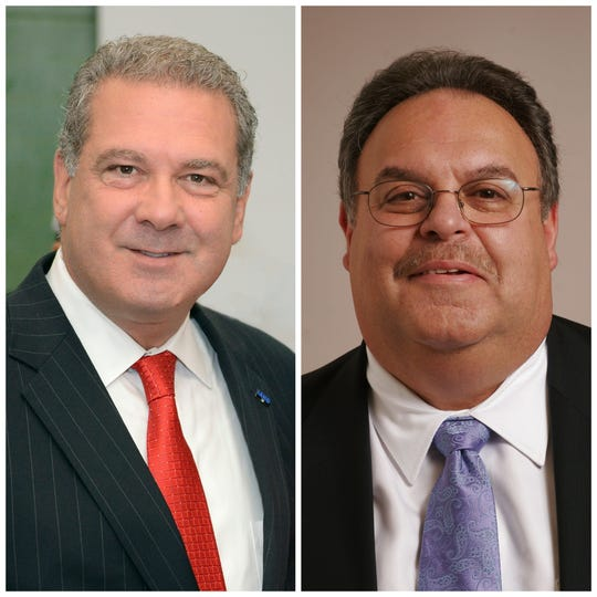 Yonkers Mayor Mike Spano, left, is being challenged by Mario De Giorgio in the 2019 election.