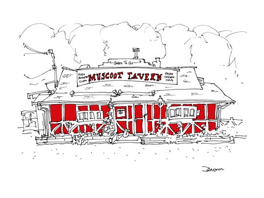 John Donohue's rendition of Muscoot Tavern in Katonah.