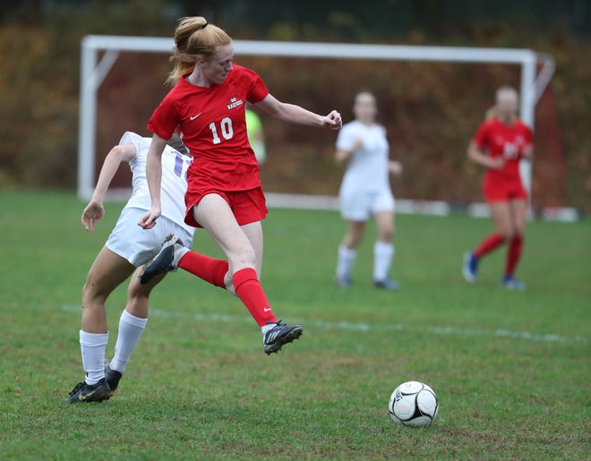 North Rockland defeats New Rochelle 3-0 in the Section 1 girls Class AA soccer semifinal game at North Rockland High School in Thiells on Thursday, October 31, 2019.