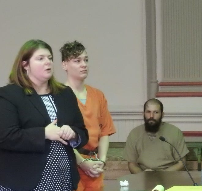 Cylinda Kirkbride, represented by Attorney Kendra Kinney, was sentenced to two years in prison for aggravated burglary.