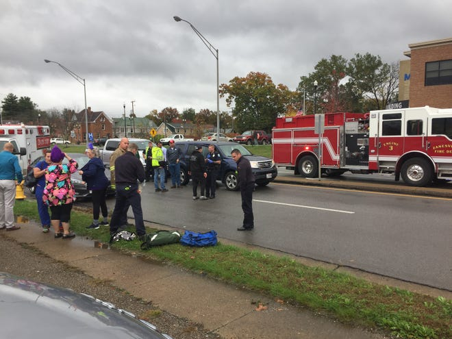 A female pedestrian was struck Thursday by a vehicle while crossing Adair at Ashland Avenue.
