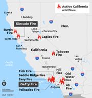 SOURCE CAL FIRE, Oct. 31; ESRI