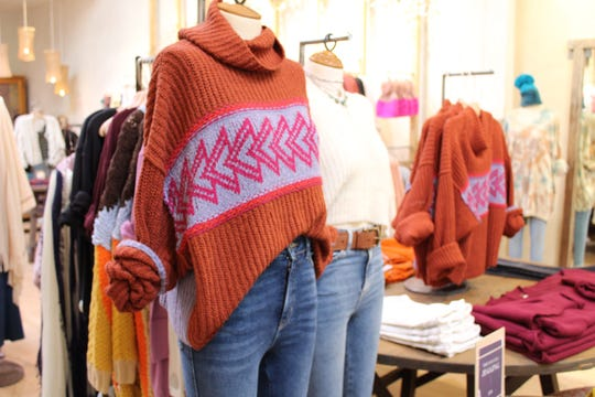 Oversized sweaters, furry coats and colorful clothing make up this fall's trendy apparel.