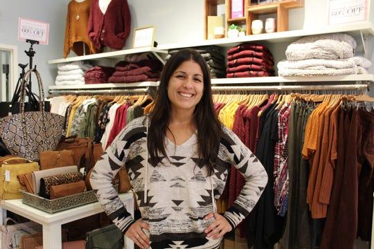 Samantha Quintas of Sayreville works at Francesca's in the Shrewsbury Grove.