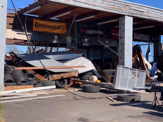 Strong winds caused major damage at Monmouth Executive Airport Nov. 1.
