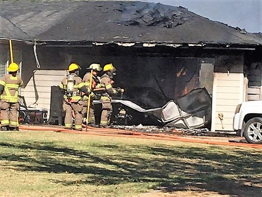 "The home of Heather of Chris English was a ""total loss"" after a fire on Oct. 20. The fire also destroyed the supplies for the nonprofit Texas Hunters for Heroes-West Texas Chapter."