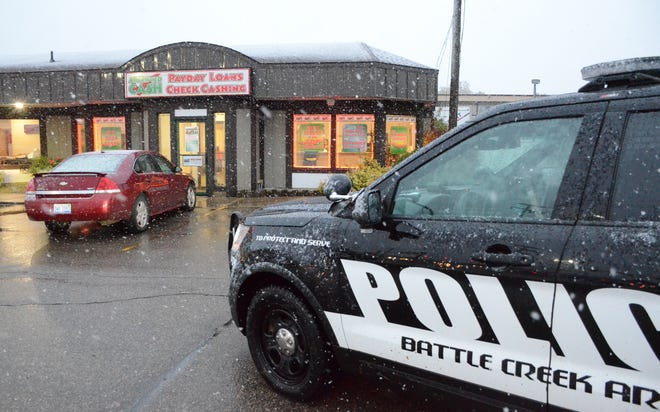 Battle Creek police said a woman robbed the Approved Cash business on the city's south side on Thursday.