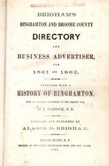 The cover pages for the 1861-1862 Binghamton directory.