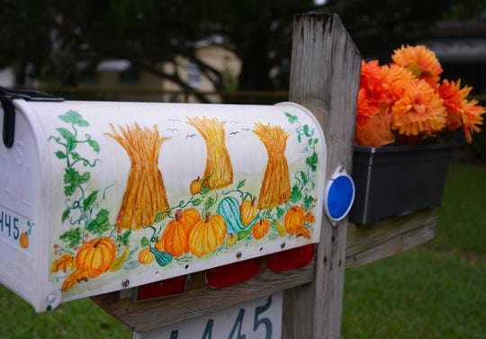 Sylvia Knight is in hospice care at her home with the help of Hospice of St. Francis. Her husband, Dick Knight, passed away in July of 2018 in hospice care. She changes her mailbox with the seasons, with mailboxes she painted herself.