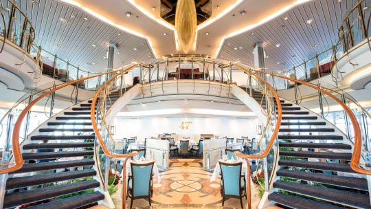 This is an interior view of the Marella Discovery.