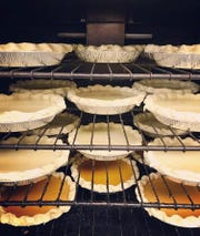 Mmm, pies! Holiday selections are lined up in the oven at Constellation Collective.