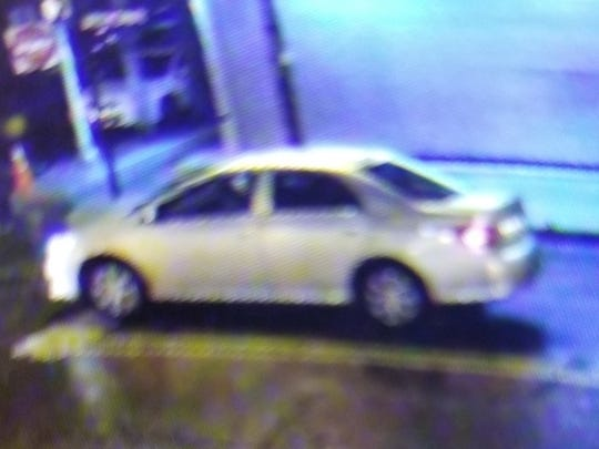 Police believe this vehicle was involved in paintball shootings along Broadway Wednesday night and early Thursday morning.