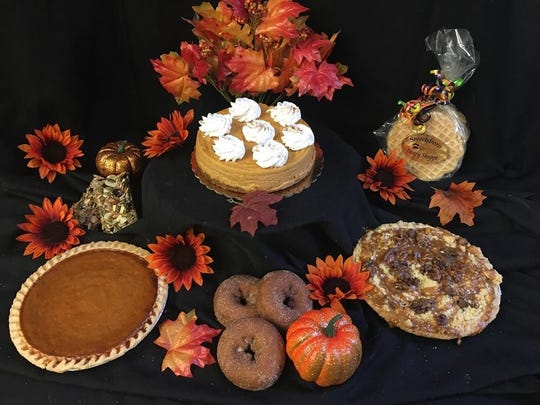 Sweetsboro Pastry Shoppe in Swedesboro offers an array of autumn treats including pies, pumpkin cheesecake, apple cider doughnuts and pizzelle.