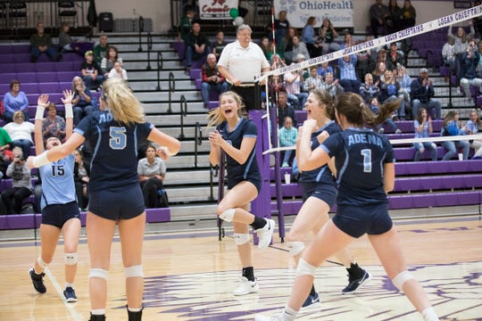 The Adena volleyball team was defeated by Wheelersburg 3-0 in a Division 3 regional semifinal game at Logan High School on Thursday, October 31, 2019.