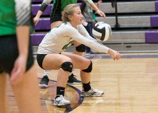 The Huntington volleyball team was defeated  3-0 in a Division 3 regional semifinal game against Berlin Hiland at Logan High School on Thursday, October 31, 2019.