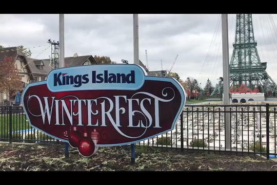 On Halloween, Kings Island crews were busy transforming the park from Haunt to Winterfest, which opens Nov. 22.