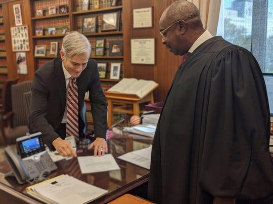 David M. DeVillers was sworn in as U.S. Attorney on Friday, Nov. 1.