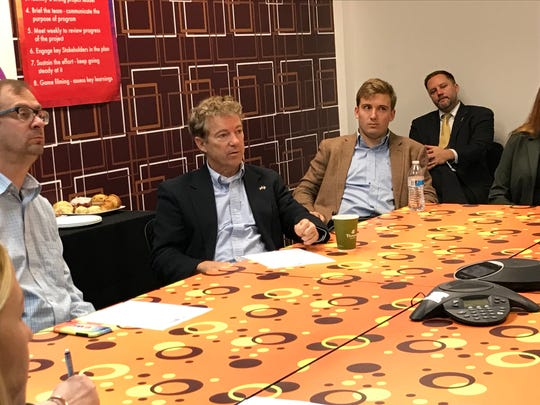 Sen. Rand Paul talked with Galerie Candy & Gifts in Boone County about how tariffs are impacting the business.